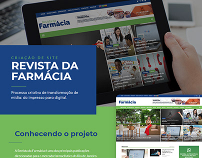 Portal - Revista da Farmácia - Website Development