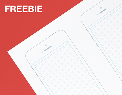 Free printable A3 mobile wireframe template