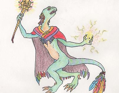 Request: Aztec Styled Kobold Warlock