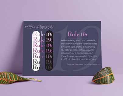 Rule 19 Poster