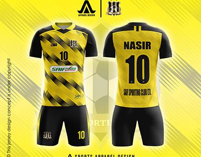 Jersey Design for Saif Sporting Club Ltd.