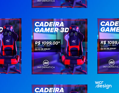 HRA - Post Cadeira Gamer 3D