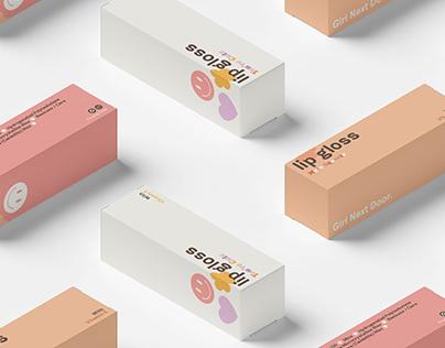 Girl Next Door: Lip Gloss Trio Packaging (2021)