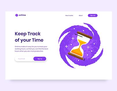Time Tracking & Management Website UI Design