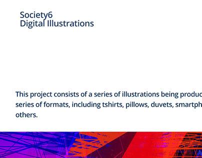 Society6 Digital Illustrations