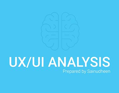 UX/UI Analysis