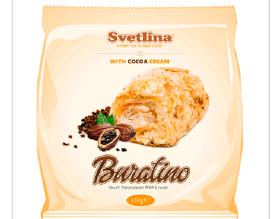Project package of puff pastry Buratino