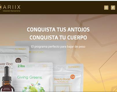 Pagina web de productos