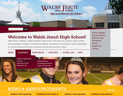 Walsh Jesuit High School Web Design/Development (15-16)