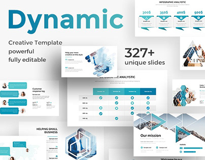 Dynamic Pitch Deck Powerpoint Template
