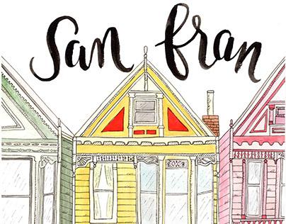 San Fran Watercolor
