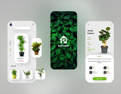 Plant House mobile app UI UX