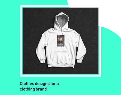 Clothes designs for a clothing brand