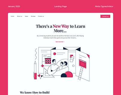Landing page for online school