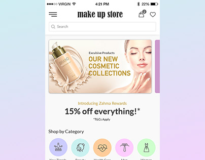 Make up eCommerce App Design