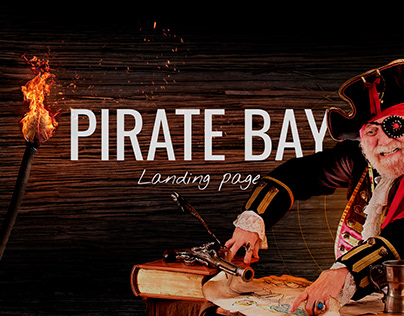 Landing page | Pirate Bay | Concept