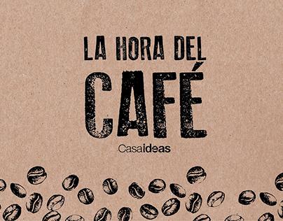 Diseño de packaging línea café Casaideas