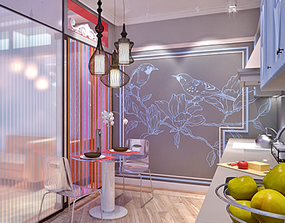 Apartment for woman, who love sparkle.