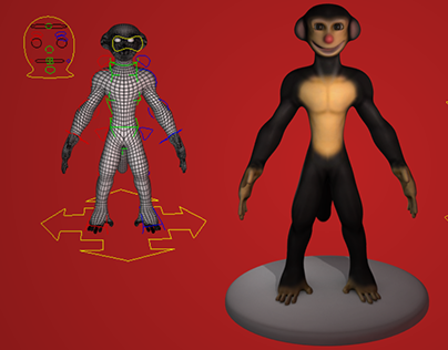Reffio Monkey Character Design & Rig