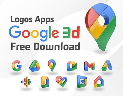 Logos Apps google 3D Rendering - Free Download