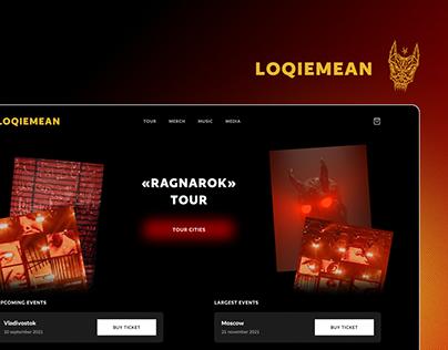 Music Artist's Website - LOQIEMEAN
