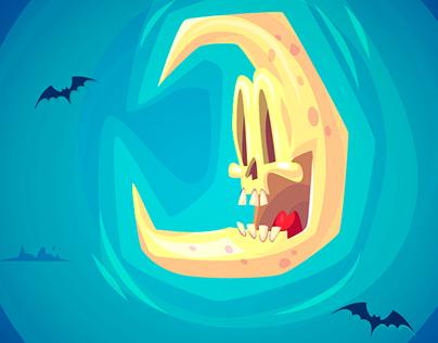 Happy Halloween illustrations (Vector)