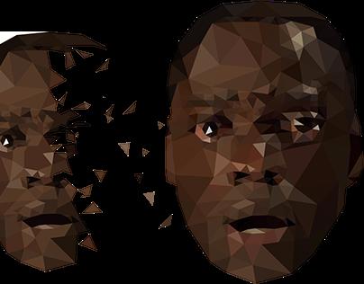 "Jordan Peele's ""Get Out"" polygon vector design"