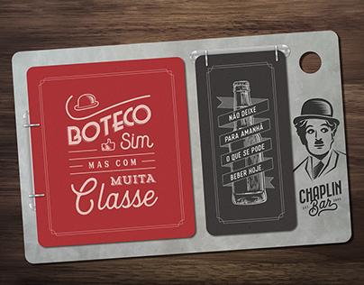 Redesign de Marca e Cardápio • Chaplin Bar