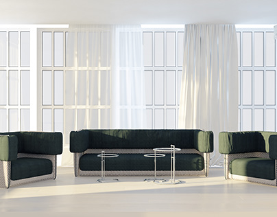 Soft furniture collection ROUT for ROY BOSH Company