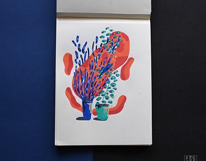Acrylic markers sketchbook