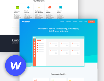Landing Page Template for Webflow