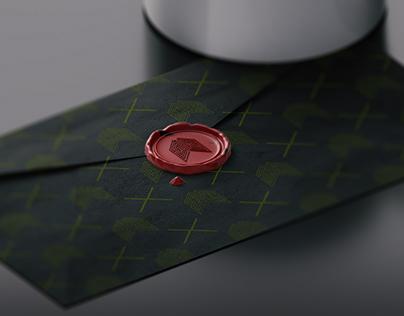Mock up Envelope & Wax Stamp