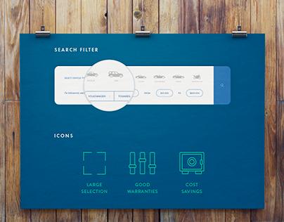 Car dealer website design.