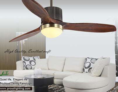 Living room ornamental ceiling fan light