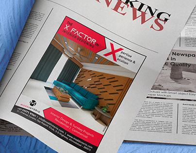 Modd Interio - Print ads for interior designer