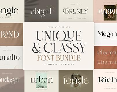 Unique font bundle