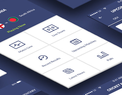 Cricket Mania- Cricket app UI design