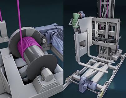 Animaciones 3D - Ensamble de máquinas