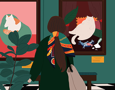 A day at the museum - Digital Illustration