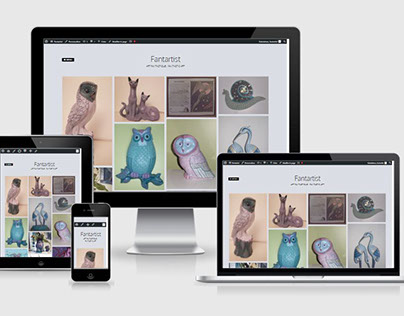 Fantartist - Nouveau site responsive sous WordPress