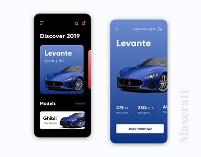 Maserati Mobile App Ui Design Concept