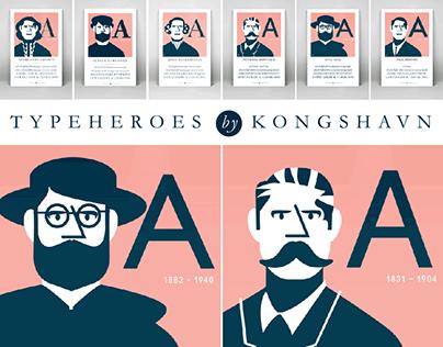 Typeheroes illustrations