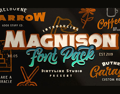 MAGNISON - FREE RETRO SCRIPT FONT
