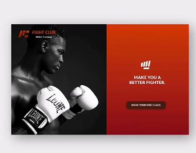 Fight Club Web design
