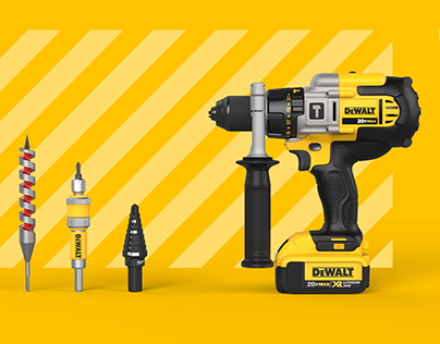3D Rendered Campaign Shots: Hammer Drill