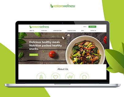 Restore Wellness - Health & Nutrition Web Responsive