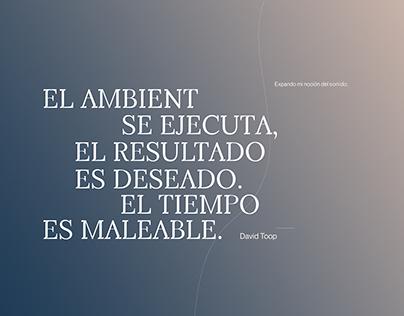 David Toop | Editorial