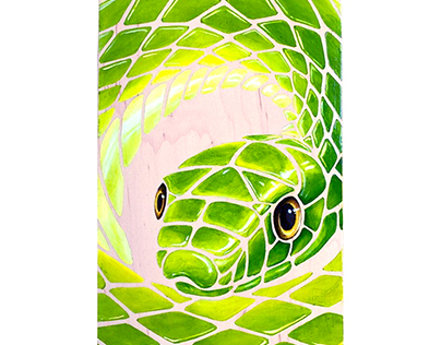 Green Mamba skateboard