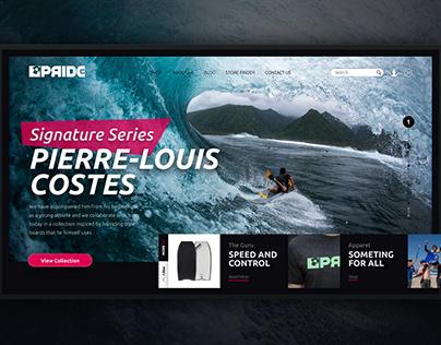 Pride Bodyboards Website Landing Page Concept
