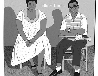 Remake de la tapa del album de Ella & Louis